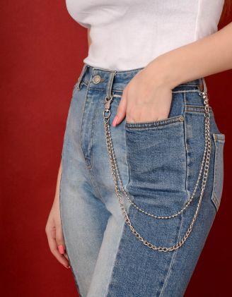 Ланцюжок подвійний на джинси та одяг | 238830-05-XX - A-SHOP