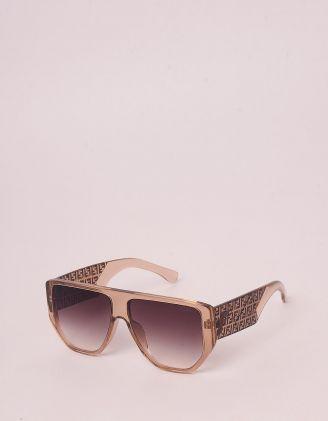 Окуляри сонцезахисні з орнаментом із літер на дужках | 246455-39-XX - A-SHOP