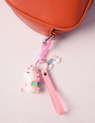 Брелок на сумку у вигляді єдинорога з веселкою | 239911-01-XX