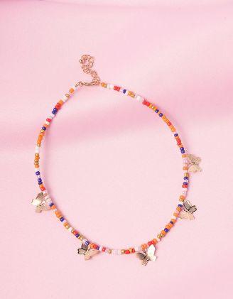 Підвіска на шию із намистин з метеликами | 246062-21-XX - A-SHOP