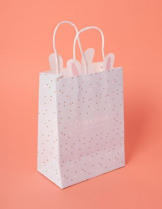 Пакет подарунковий a shop з вушками та зірочками | 237921-18-XX - A-SHOP