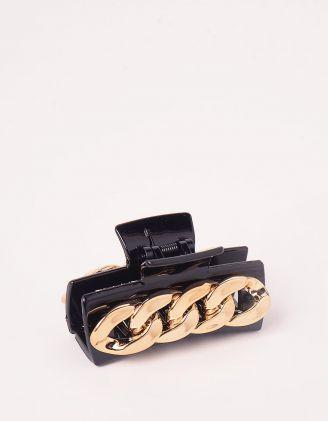Шпилька для волосся крабік декорована ланцюжком | 246572-09-XX - A-SHOP
