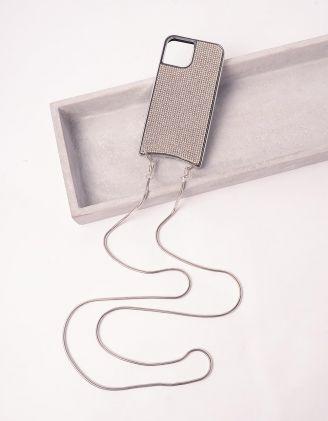 Чохол на iphone у стразах на ланцюжку | 245785-06-60 - A-SHOP
