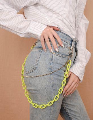 Ланцюжок на одяг подвійний | 240107-62-XX - A-SHOP