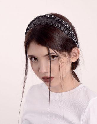 Обідок для волосся плетений з ланцюгом | 247413-02-XX - A-SHOP