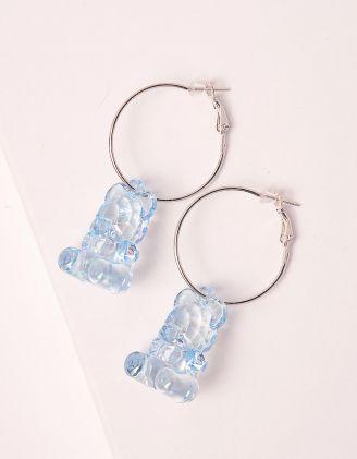 Сережки кільця з ведмедиками | 249094-18-XX - A-SHOP