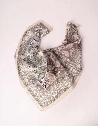 Хустка на шию з етнічним візерунком | 247869-11-XX - A-SHOP