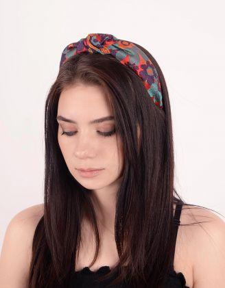 Обідок для волосся з принтом квітів | 248730-20-XX - A-SHOP