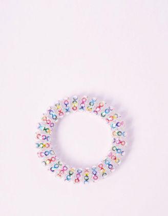 Резинка для волосся спіральна з кольоровими кільцями | 241703-21-XX - A-SHOP