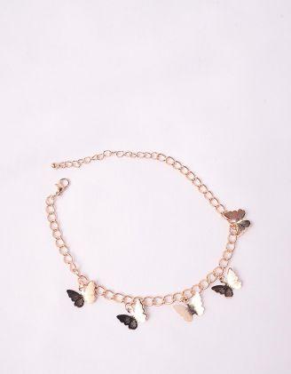 Браслет на ногу з метеликами | 244501-04-XX - A-SHOP