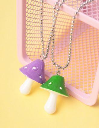 Підвіска на шию best friends з кулонами у вигляді грибів | 247251-03-XX - A-SHOP