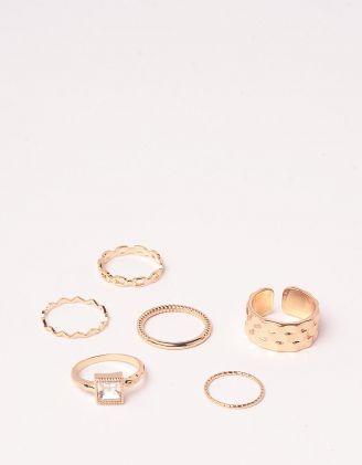 Кільця у наборі плетені у вигляді ланцюжка | 249416-04-XX - A-SHOP
