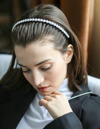 Обідок для волосся з перлинами | 244464-01-XX - A-SHOP