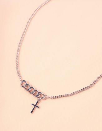Підвіска на шию з хрестиком на ланцюжку | 245575-05-XX - A-SHOP