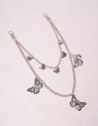 Ланцюжок на одяг багатошаровий з метеликами | 246384-05-XX - A-SHOP
