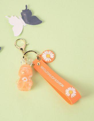 Брелок на сумку з ромашками та зайчиком | 245456-26-XX - A-SHOP