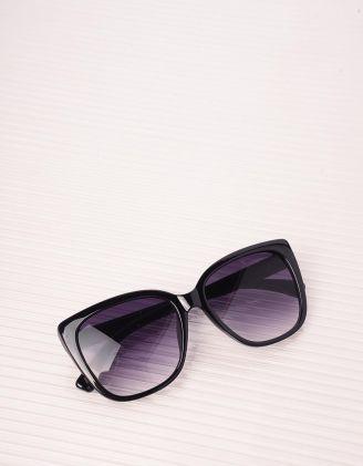 Окуляри сонцезахисні cat eye з градієнтом на лінзах та рельєфними дужками | 243988-02-XX - A-SHOP