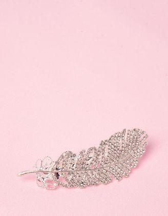 Шпилька для волосся у вигляді пера із страз | 247721-06-XX - A-SHOP