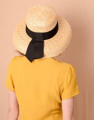 Капелюх плетений зі стрічкою | 240067-22-XX - A-SHOP