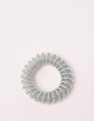 Резинка для волосся спіральна прозора з намистинами | 240278-32-XX - A-SHOP