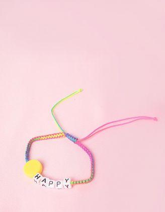 Браслет на руку плетений з написом HAPPY | 248548-21-XX - A-SHOP