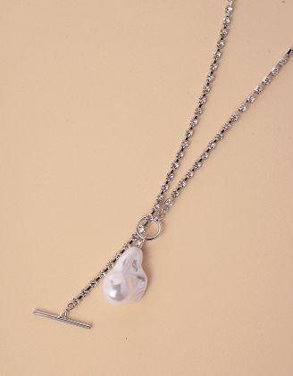 Підвіска на шию декорована стразами з перлиною | 245653-06-XX - A-SHOP