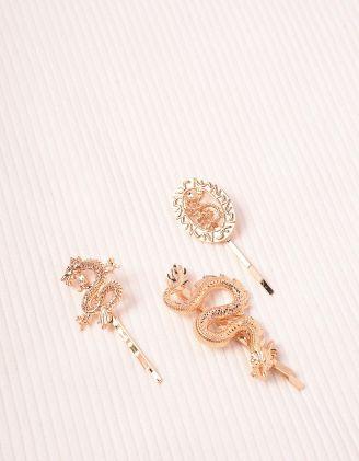 Шпилька для волосся у комплекті з драконами | 245127-04-XX - A-SHOP