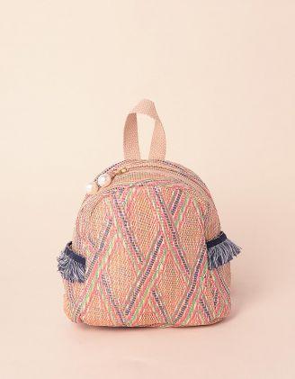 Рюкзак для прогулянок плетений з орнаментом | 239287-21-XX
