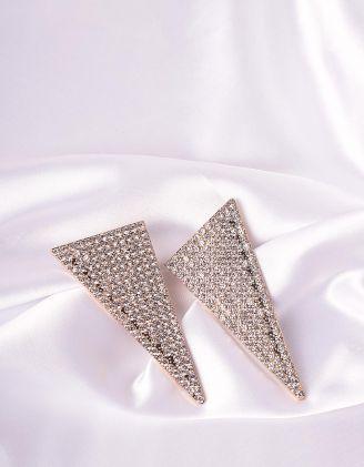 Сережки фігурні декоровані стразами | 245627-06-XX - A-SHOP