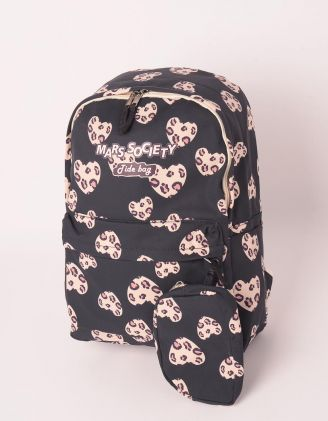 Рюкзак для міста з принтом леопардових сердець   249125-02-XX - A-SHOP