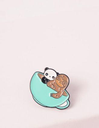 Брошка у вигляді панди та лінивця | 245726-37-XX - A-SHOP