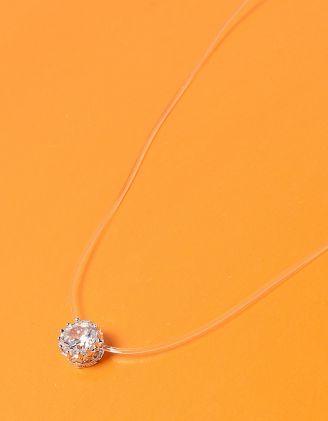 Чокер из лески с кристаллом в кулоне | 233713-06-XX - A-SHOP