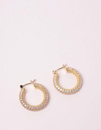Сережки кільця зі стразами | 245962-08-XX - A-SHOP
