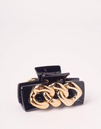 Шпилька для волосся крабік декорований ланцюжком | 246573-09-XX - A-SHOP