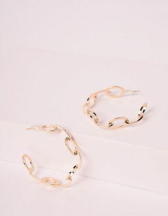 Сережки кільця у вигляді ланцюжків | 246154-04-XX - A-SHOP