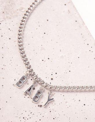 Підвіска на шию із ланцюжка з написом BABY | 244091-05-XX - A-SHOP