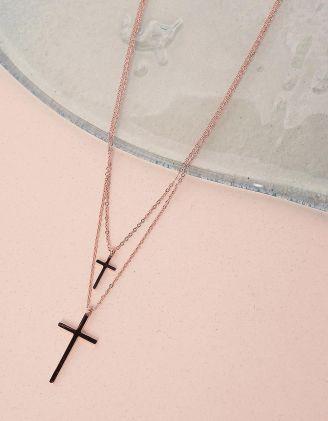 Підвіска подвійна з хрестиками | 239803-04-XX - A-SHOP