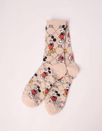 Шкарпетки з принтом Міккі Мауса | 243136-22-XX - A-SHOP