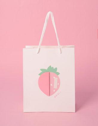 Пакет подарунковий з принтом фруктів | 240700-01-XX - A-SHOP