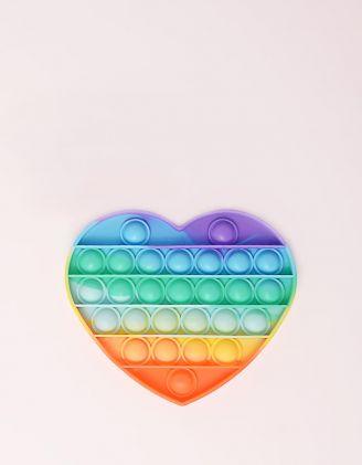 Іграшка антистрес сквіш pop it у вигляді серця | 248521-21-XX - A-SHOP