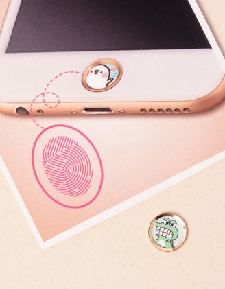 Наліпка для телефону на кнопку HOME з малюнком крокодила | 239885-20-XX - A-SHOP