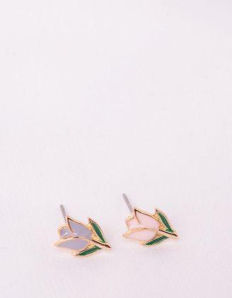 Сережки пусети у вигляді тюльпанів | 246202-21-XX - A-SHOP