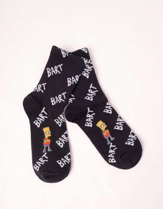 Шкарпетки з принтом Барта Сімпсона | 246745-02-XX - A-SHOP