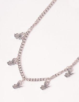Підвіска на шию із ланцюга з підвісками у вигляді кролика із плей бой   247714-06-XX - A-SHOP