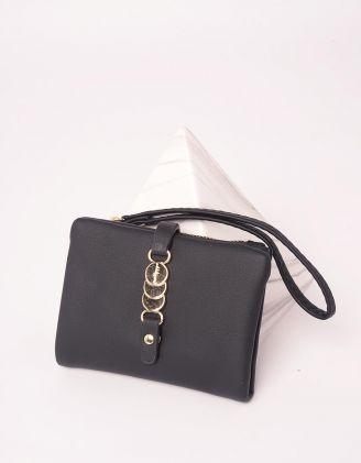 Гаманець портмоне з фурнітурою на застібці | 246037-02-XX - A-SHOP