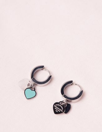 Сережки з підвісками у виглядi сердець | 247154-65-XX - A-SHOP