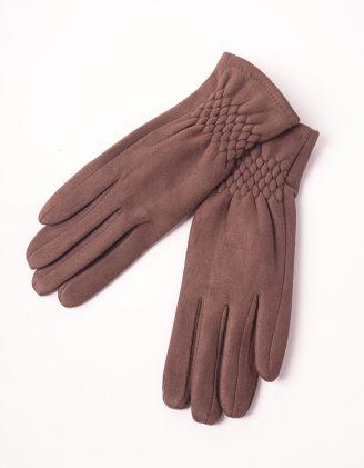 Рукавички теплі стьобані | 238967-33-07 - A-SHOP