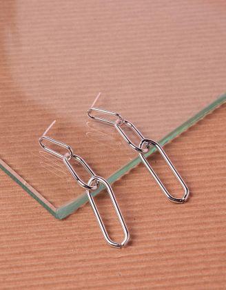 Сережки довгі у вигляді ланцюжка | 240425-05-XX - A-SHOP