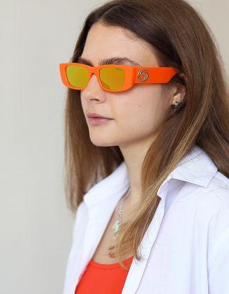 Окуляри сонцезахисні вузькі з фурнітурою на дужках   248791-26-XX - A-SHOP