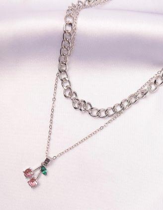 Підвіска на шию із ланцюжка з кулоном у вигляді вишні | 246055-70-XX - A-SHOP